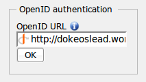 OpenID login form