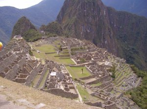 Machu Picchu from below the Guard Tower