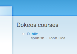 """Drupal's """"dokeos"""" module - Preview"""