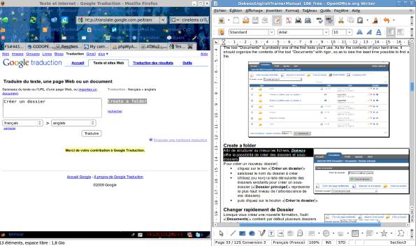 Dual window to quick-pre-translate