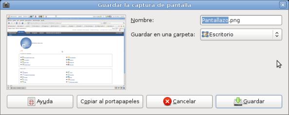 Pantallazo-Guardar la captura de pantalla