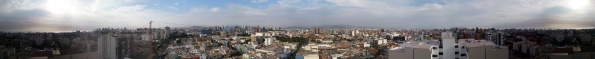 Panoramic view of Lima, Peru