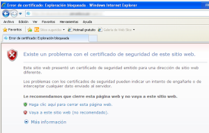 SSL warning in IE under XP