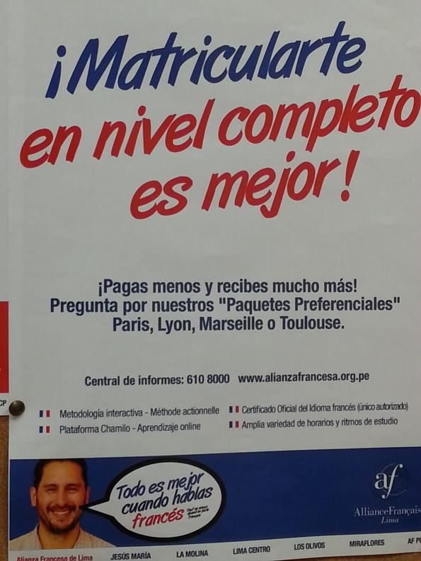 L'Alliance Française de Lima est fière d'utiliser Chamilo